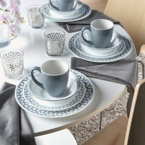 Corelle Impressions Ceramic Dinnerware Set (16 Pieces), Urban Grid - Walmart.com