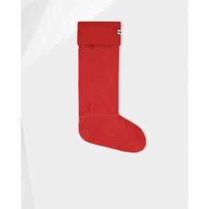 Hunter Red Garter-Stitch Boot Socks | Official US Hunter Boots Store