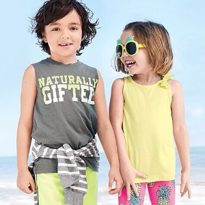$5 All SizesBaby and Kid's Tees, Tanks and Shorts @ Carter's