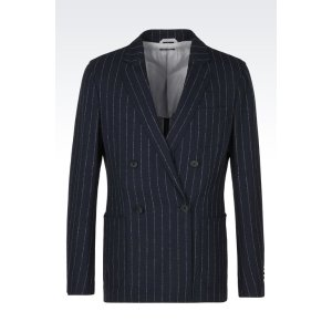 Giorgio Armani Men UPTON BASKET WEAVE WOOL JACKET, Virgin Wool - Armani.com