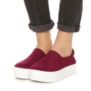 OPENING CEREMONY CiCi Velvet Platform Sneaker