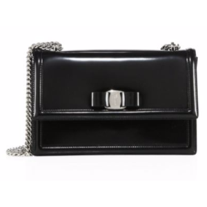 Salvatore Ferragamo - Ginny Glossy Leather Crossbody Bag - saks.com