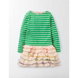 Stripy Ruffle Dress 33515 Day Dresses at Boden