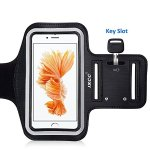 iPhone7/ 6 / 6s Armband, iXCC Trek Series Sport Running Sweatproof Armband with Dual Arm-Size Slots for iPhone 7,6, 6s, 5s, 5, 5c, iPod MP3 Player - Black
