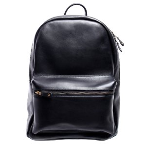 Beautifully Simple Black Leather Backpack by Beara Beara