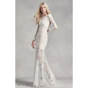 White by Vera Wang Lace and Beads Wedding Dress