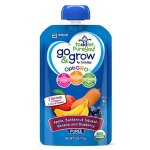 Go & Grow by Similac Fruit and Veggie Pouches with OptiGRO, Apple, Butternut Squash, Banana, Blueberry Puree, For Toddlers, Organic Baby Food, 4 ounces, Pack of 12