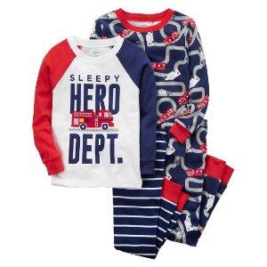 4-Piece Hero Snug Fit Cotton PJs