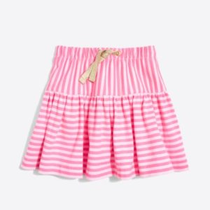 Girls' double-striped pull-on skirt : FactoryGirls non-boring basics under $25 | Factory