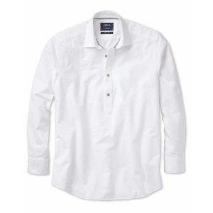 Classic fit popover off-white shirt | Charles Tyrwhitt