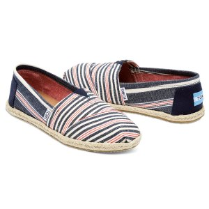 Navy Red Stripe Rope Sole Women's Classics | TOMS®
