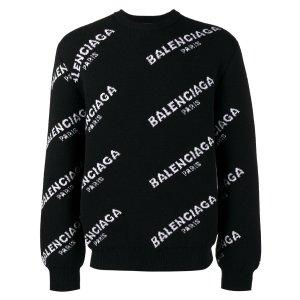 Balenciaga logo 毛衣