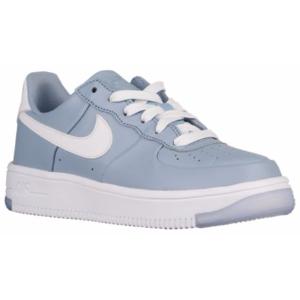Nike Air Force 1 Ultraforce - Boys' Grade School - Basketball - Shoes - Blue Grey/White
