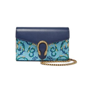 Gucci | Dionysus metallic brocade and leather shoulder bag