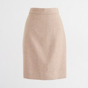 Tall pencil skirt in double-serge wool : Petites | J.Crew Factory