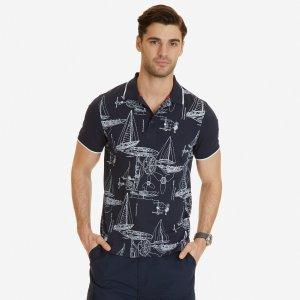 Slim Fit Printed Polo Shirt - Navy | Nautica