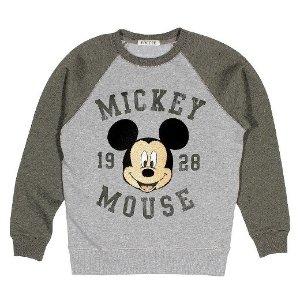 Boys' Mickey Mouse Patch Sweatshirt - Grey : Target