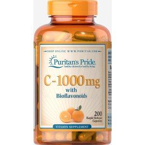 Vitamin C-1000 mg with Bioflavonoids 200 Capsules