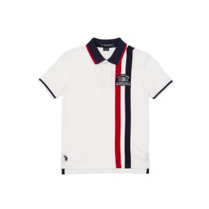 Verticle Stripe Patch Polo Shirt - U.S. Polo Assn.
