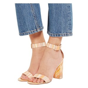 Printed leather and Perspex sandals | Valentino | US | THE OUTNET