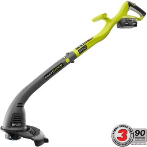 Ryobi ONE+ 18-Volt Lithium-Ion Electric Cordless String Trimmer and Edger-P2030 - The Home Depot
