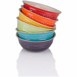 Stoneware Rainbow Bowls (Set of 6)
