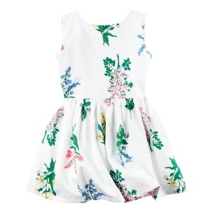 Toddler Girl Sateen Floral Dress   Carters.com