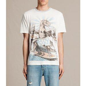 ALLSAINTS US: Mens Surfrex Crew T-Shirt (Chalk White)