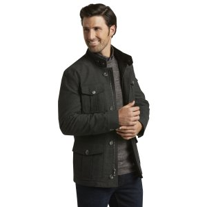 Reserve Collection Tailored Fit Field Jacket CLEARANCE - Outerwear   Jos A Bank