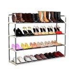 24 Pairs Shoe Rack Organizer Storage Bench