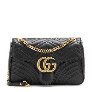 Gucci - GG Marmont Medium matelassé leather shoulder bag