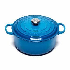 Signature Cast Iron Round Casserole Dish - 28cm - Marseille Blue