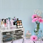 ABO Gear Acrylic Makeup Cosmetic Organizer Cosmetics Organizers Storage Drawers, Two Pieces Set