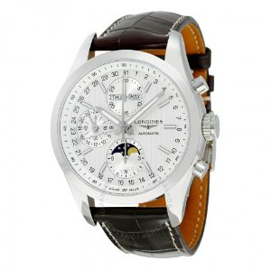 Longines Conquest White Dial Chronograph Automatic Men's Watch
