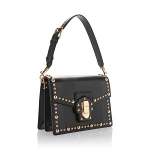Studded Iguana Leather Top Handle Bag by  Dolce & Gabbana