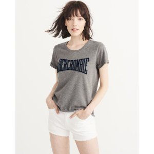Womens Embroidered Logo Tee | Womens Clearance | Abercrombie.com