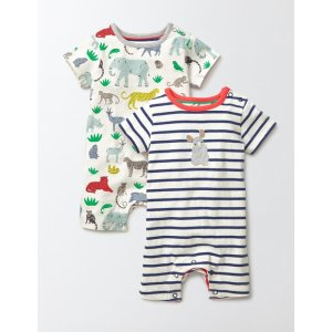 Jungle Twin Pack Rompers 70094 Rompers at Boden