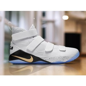 Nike LeBron Soldier 11 - Men's - Basketball - Shoes - Lebron James - White/Metallic Gold/Black
