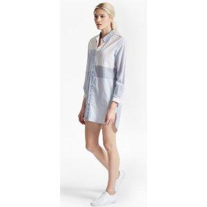 CITY STRIPE OVERSIZED SHIRT DRESS