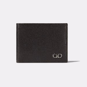 Ten-Fourty One Pebbled Leather Bifold Wallet Small Leather Goods