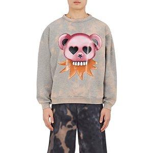 Acne Studios Fint Bear Cotton Sweatshirt | Barneys New York