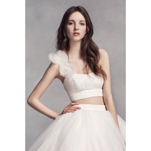 White by Vera Wang Crop Top - Davids Bridal