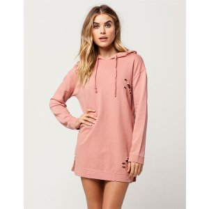 POLLY & ESTHER Destructed Hoodie Dress | Short Dresses