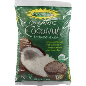 Let's Do Organic Shredded Coconut Unsweetened -- 8 oz