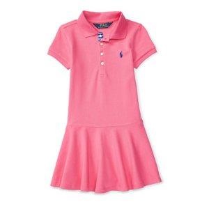 Mesh Short-Sleeve Polo Dress - Dresses � Girls' 2-6X - RalphLauren.com
