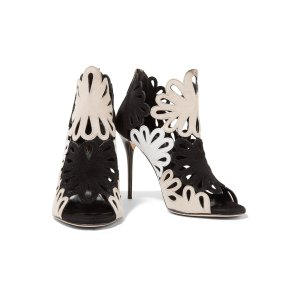 Jeralina cutout suede sandals | Oscar de la Renta | US | THE OUTNET