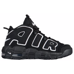 Nike Air More Uptempo - Boys' Grade School - Basketball - Shoes - Black/White/Black