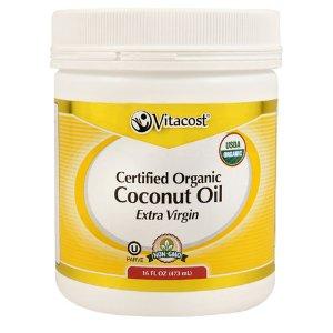 Vitacost Extra Virgin Certified Organic Coconut Oil -- 16 fl oz - Non-GMO