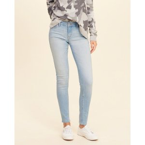 Hollister 浅色低腰牛仔裤