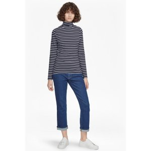 Isla Polo Neck Tim Tim Stripe Top
